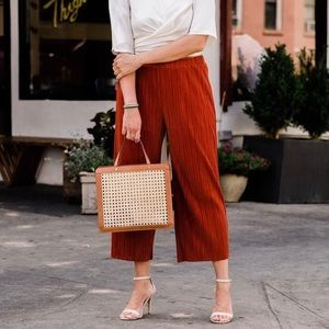 Madewell Pants - Madewell wide leg accordion pleat, cropped pant